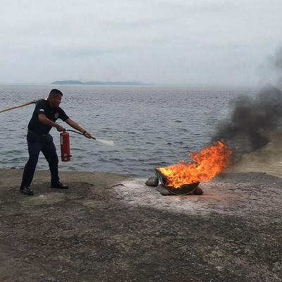 Beach in Batangas: Eagle Point Batangas Resorts Employees Performs Fire Drill